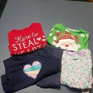 Girls sz 3t bundle, shirts, pjs and leggings